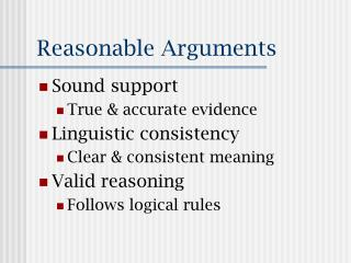 Reasonable Arguments
