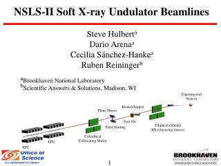 NSLS-II Soft X-ray Undulator Beamlines
