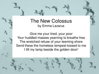 US History Music - New Colossus
