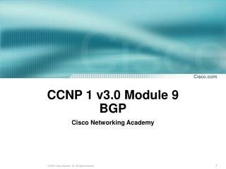 CCNP 1 v3.0 Module 9 BGP