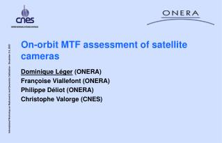 On-orbit MTF assessment of satellite cameras