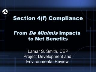 Section 4(f) Compliance