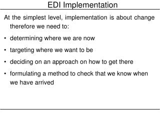 EDI Implementation