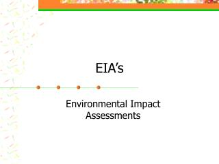 EIA's