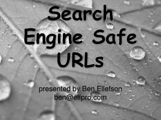 Search Engine Safe URLs