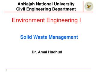 Environment Engineering I