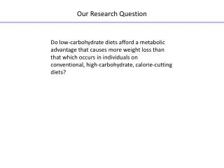 Our Research Question