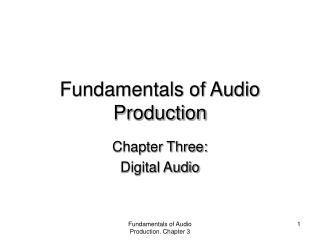 Fundamentals of Audio Production
