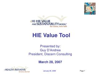 HIE Value Tool