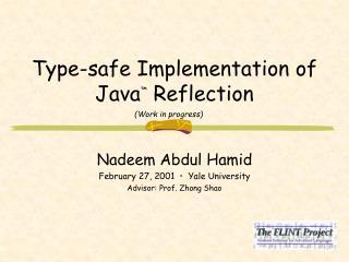 Type-safe Implementation of Java �  Reflection