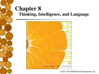 Chapter 8 Thinking, Intelligence, and Language