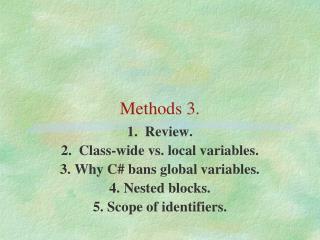 Methods 3.