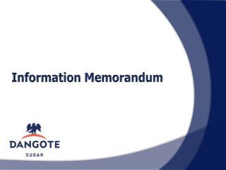 Information Memorandum