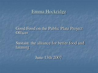 Emma Hockridge