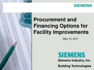 Procurement and Financing Options for Facility Improvements