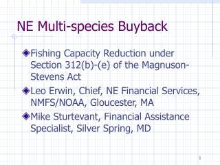NE Multi-species Buyback