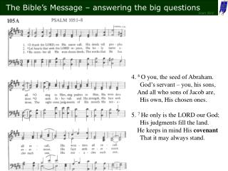 4.  6  O you, the seed of Abraham. God's servant – you, his sons,