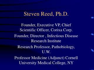 Steven Reed, Ph.D.