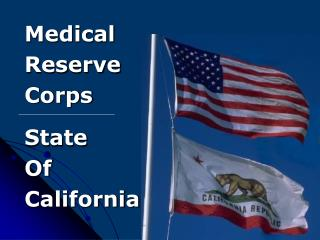 Medical Reserve Corps State  Of California