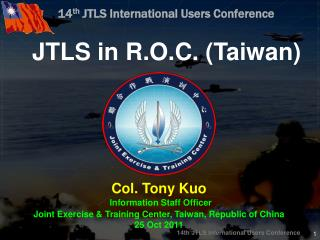 14 th  JTLS International Users Conference