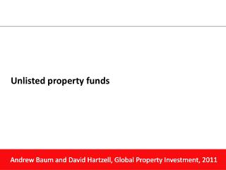 Unlisted property funds