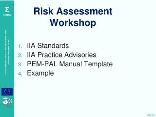 Risk Assessment Workshop