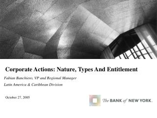 Corporate Actions: Nature, Types And Entitlement