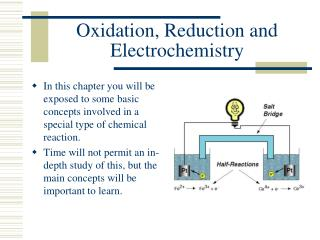 Oxidation, Reduction and Electrochemistry