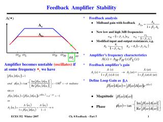 Feedback  Amplifier  Stability