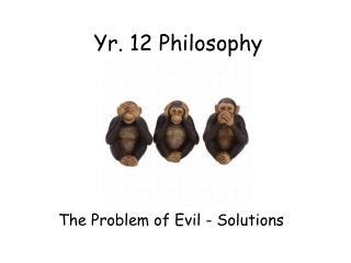 Yr. 12 Philosophy