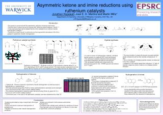 Asymmetric ketone and imine reductions using ruthenium catalysts