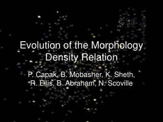 Evolution of the Morphology Density Relation