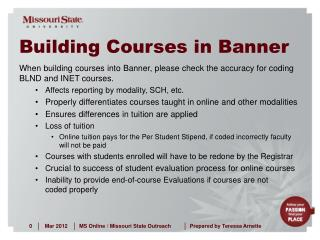 Building Courses in Banner