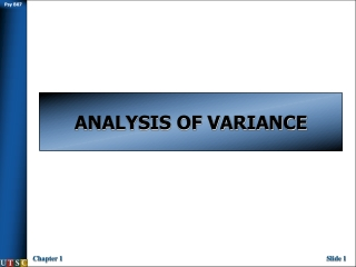 Analysis of Variance ANOVA