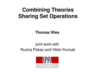 Combining Theories  Sharing Set Operations