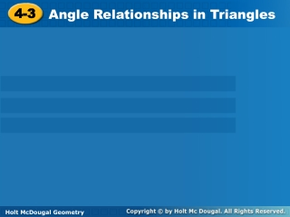 Relationships in Triangles