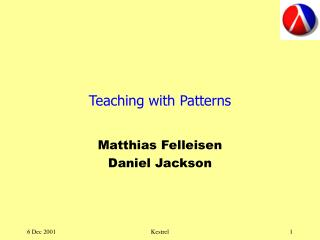 Teaching with Patterns
