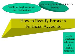 How to Rectify Errors in Financial Accounts