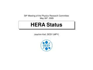 HERA Status