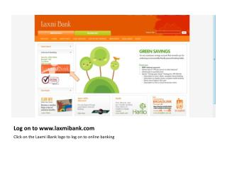 Log on to laxmibank