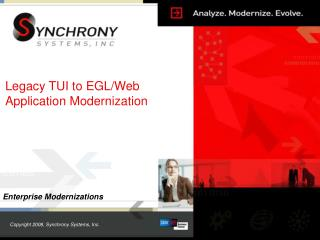 Legacy TUI to EGL/Web Application Modernization
