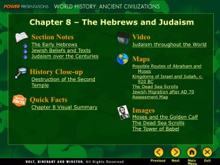 Chapter 8 – The Hebrews and Judaism