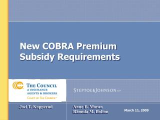 New COBRA Premium Subsidy Requirements