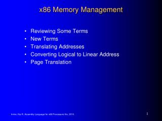 x86 Memory Management