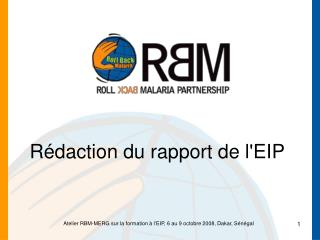 Rédaction du rapport de l'EIP