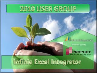 Infinia  Excel Integrator