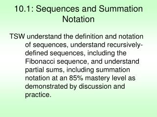 10.1: Sequences and Summation Notation