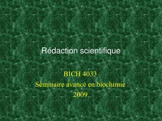 Rédaction scientifique