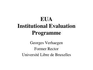EUA Institutional Evaluation Programme