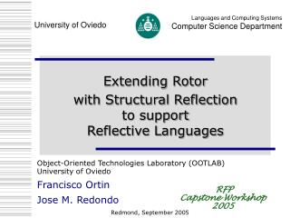 Extending Rotor with Structural Reflection  to support  Reflective Languages